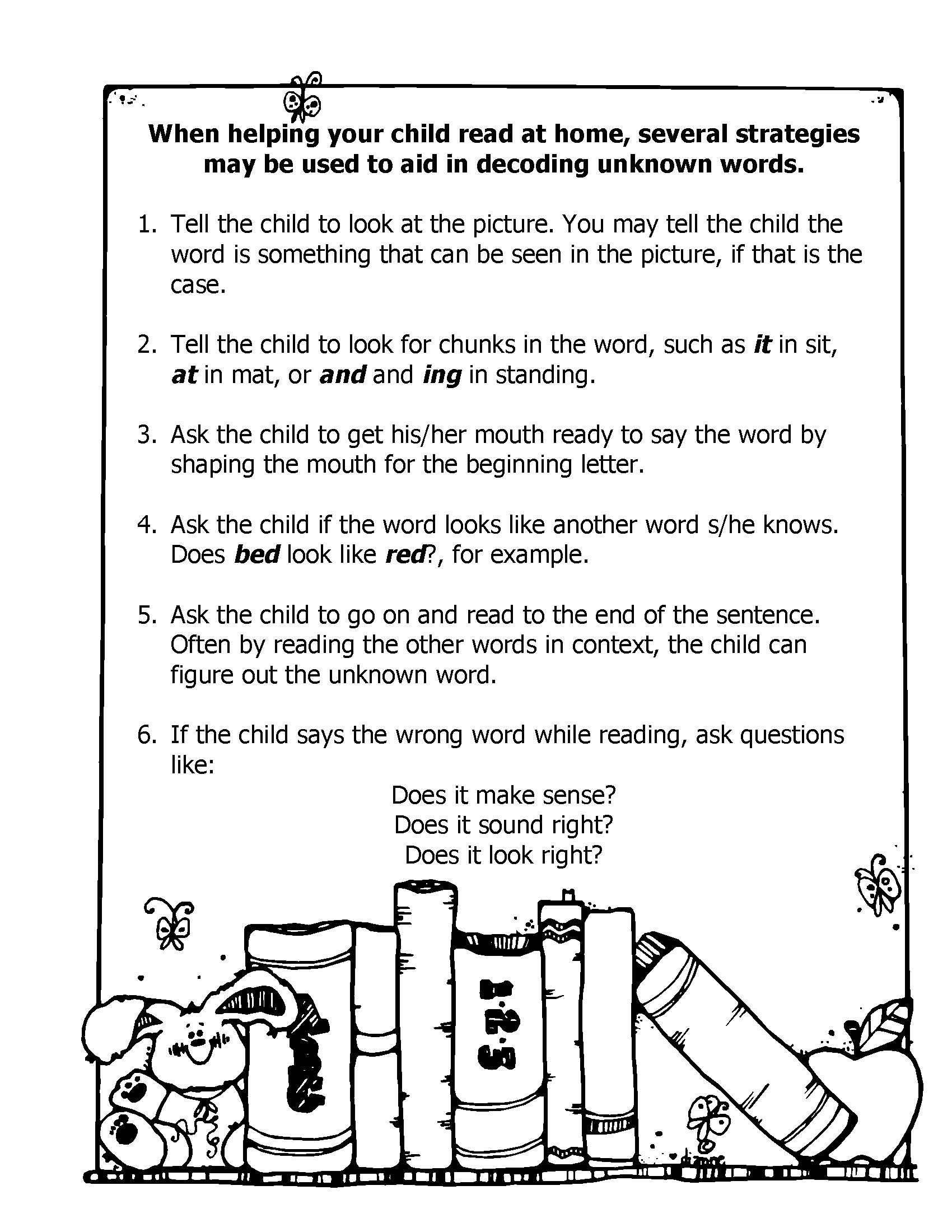 Homework strategies for parents